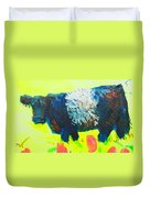 Belted Galloway Cow Looking At You Duvet Cover