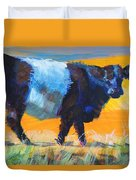 Belted Galloway Cow Side View Duvet Cover