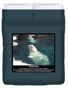 Beluga Whale Poster Duvet Cover