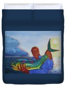 Ben And The Dolphin Fish Duvet Cover