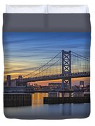 Ben Franklin Bridge Duvet Cover