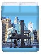 Ben Franklin Printing Press - Philadelphia Duvet Cover