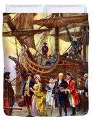 Ben Franklin Returns To Philadelphia Duvet Cover by War Is Hell Store