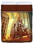 Ben In New York City Duvet Cover