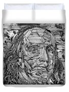 Ben In Wood B W Duvet Cover
