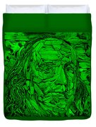 Ben In Wood Green Duvet Cover