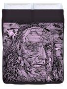 Ben In Wood Pink Duvet Cover