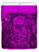 Ben In Wood Purple Duvet Cover