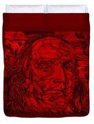 Ben In Wood Red Duvet Cover