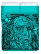 Ben In Wood Turquoise Duvet Cover