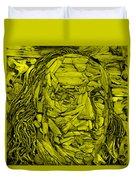 Ben In Wood Yellow Duvet Cover