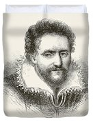 Ben Jonson 1572 To 1637. English Duvet Cover