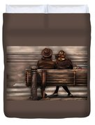 Bench - A Couple Out Of Time Duvet Cover