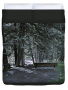 Bench By The Stream II Duvet Cover