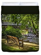 Bench By The Stream IIi Duvet Cover
