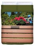 Bench In Steelhead Park Duvet Cover
