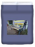 Bench Of Color Duvet Cover