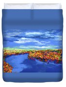 Bend In The River Duvet Cover by Stephen Anderson