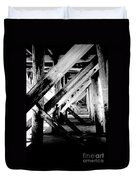 Beneath The Docks Night Duvet Cover