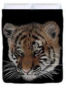 Bengal Tiger Cub Duvet Cover