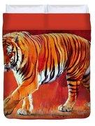 Bengal Tiger  Duvet Cover by Mark Adlington