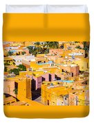 Beni Isguen Houses From The Watch Tower Duvet Cover