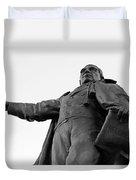 Benito Juarez Statue Duvet Cover