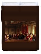 Benjamin Franklin Appearing Before The Privy Council  Duvet Cover