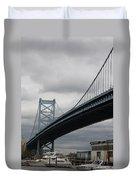 Benjamin Franklin Bridge Philadelphia Duvet Cover