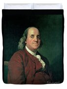 Benjamin Franklin Duvet Cover by Joseph Wright of Derby