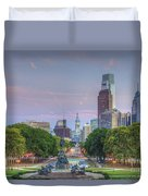 Benjamin Franklin Parkway City Hall Duvet Cover