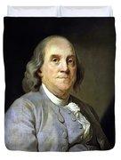Benjamin Franklin Painting Duvet Cover