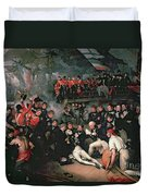 Benjamin West Duvet Cover by The Death of Nelson