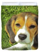 Benny Beagle Duvet Cover by Harry Warrick