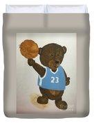 Benny Bear Basketball  Duvet Cover