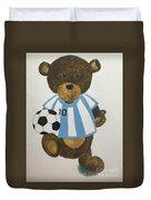 Benny Bear Soccer Duvet Cover