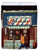 Bens Barbershop Duvet Cover