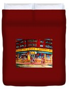 Ben's Delicatessen - Montreal Memories - Montreal Landmarks - Montreal City Scene - Paintings  Duvet Cover