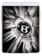 Bentley Wheel Emblem -0303ac Duvet Cover