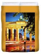 Berlin - Brandenburg Gate At Night Duvet Cover