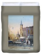 Berlin Clock Tower Duvet Cover