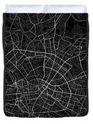 Berlin Germany Dark Map Duvet Cover