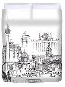 Berlin Medley Monochrome Duvet Cover