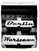 Berlin To Warsaw Frame 1  Duvet Cover
