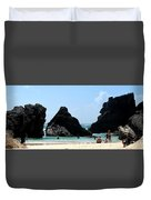 Bermuda Day At The Beach Duvet Cover