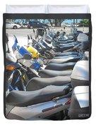 Bermuda Scooters Duvet Cover