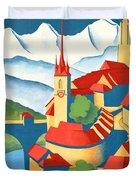 Berne Switzerland - Restored Duvet Cover