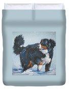 Bernese Mountain Dog In Drift Duvet Cover