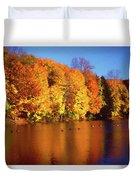 Bernharts Dam Fall 008 Duvet Cover