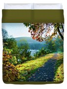 Bernharts Dam Fall 12-25 Duvet Cover